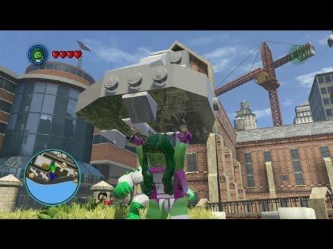 LEGO Marvel Super Heroes - Unlocking She-Hulk + Free Roam Gameplay (Character Token Guide)