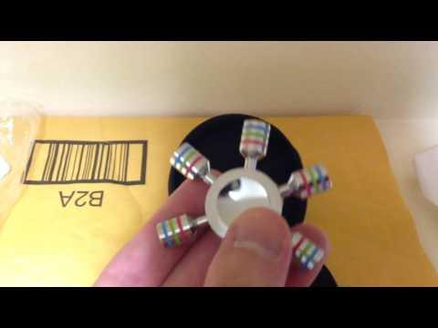 Unboxing - Tenergy Heavy Duty Solid Brass Copper Premium Finger Spinner, Chrome Finish, R188 Bearing