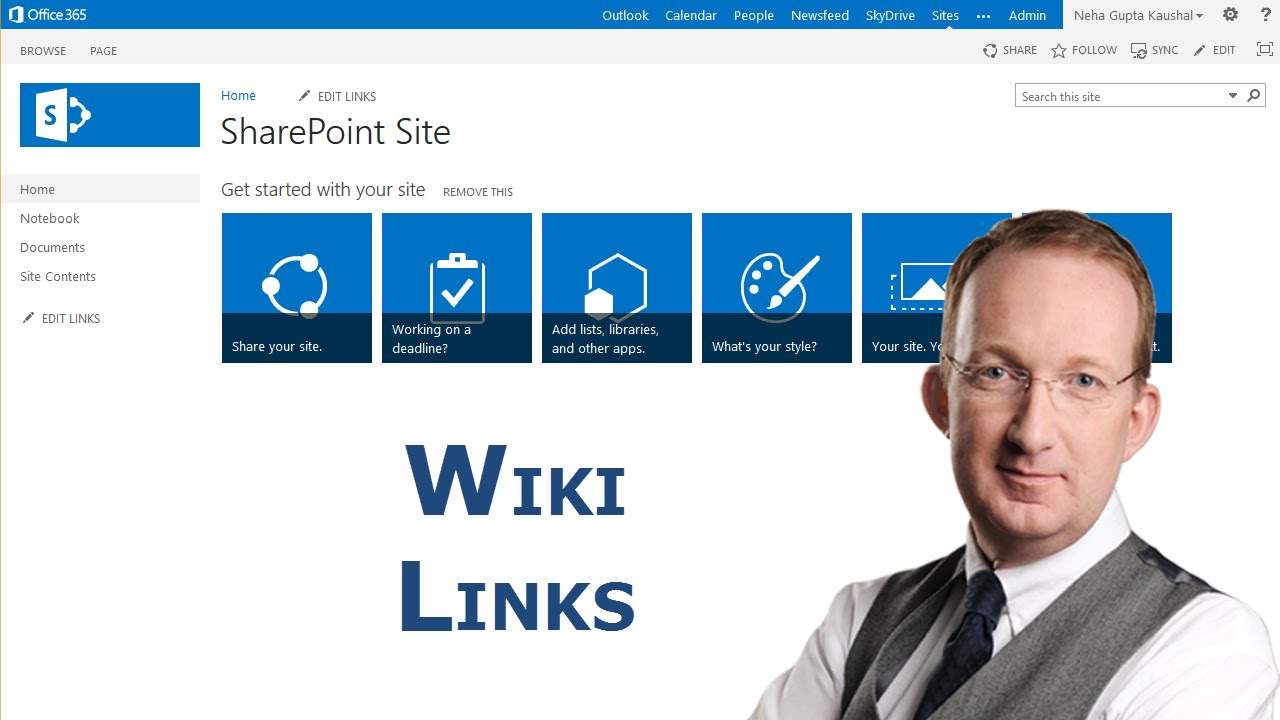 Sharepoint Wiki Links Create And Manipulate Youtube