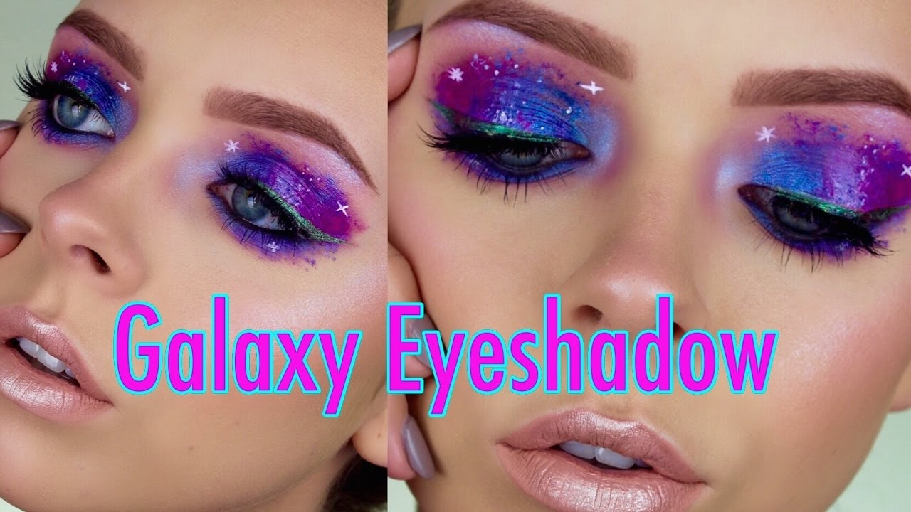 Galaxy Eyeshadow | Cosmobyhaley - YouTube