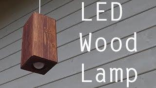 Светильник из дерева /DIY Led wood lamp