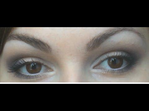 Нежный макияж в серых тонах