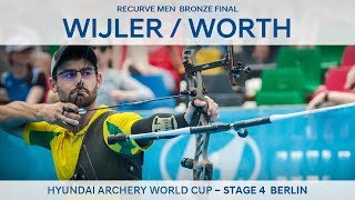 Steve Wijler v Taylor Worth recurve men 39 s bronze Berlin 2018 Hyundai Archery World Cup S4