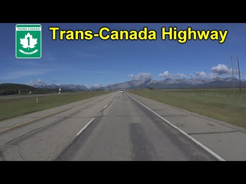 The Trans-Canada Highway Into The Canadian Rockies
