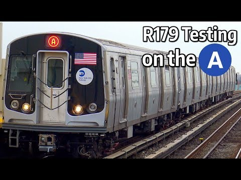 ⁴ᴷ New R179 Subway Cars 3050-3053 undergoing Communications Network Testing
