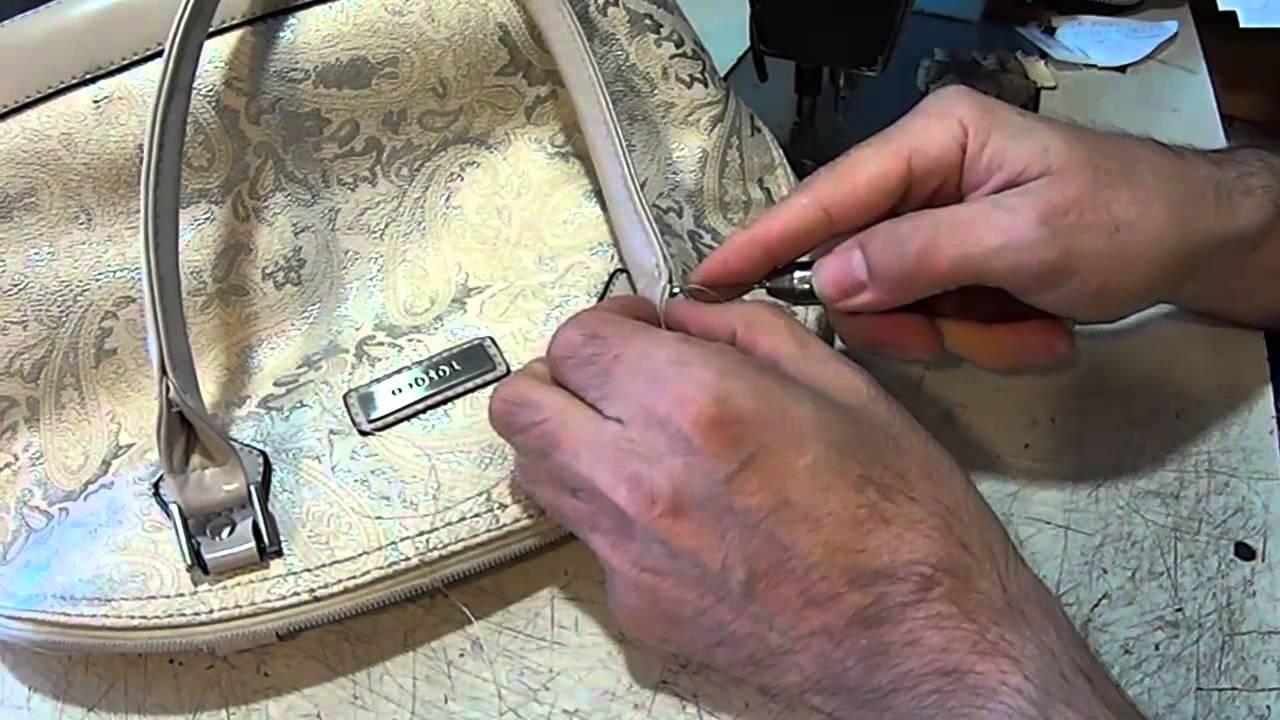Как отремонтировать ручки у сумки видео