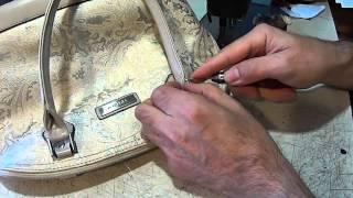 Ремонт ручки сумки. Ремонт обуви.(Как отремонтировать ручку сумки в домашних условиях? Довольно просто, если освоить не хитрый инструмент..., 2014-09-16T12:59:21.000Z)