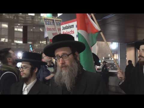 Jews Protesting Israeli Settlements in Hebron