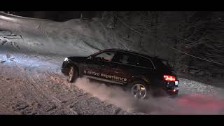 Audi Q7 climbing the snowtrack in Maramures
