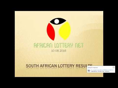 South Africa Lotto results - 10.08.2016