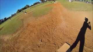GOPRO ON HELMET POV   baseball hit 2 views full speed at bat