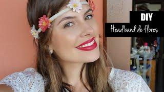 diy como fazer uma headband de flores pra o carnaval