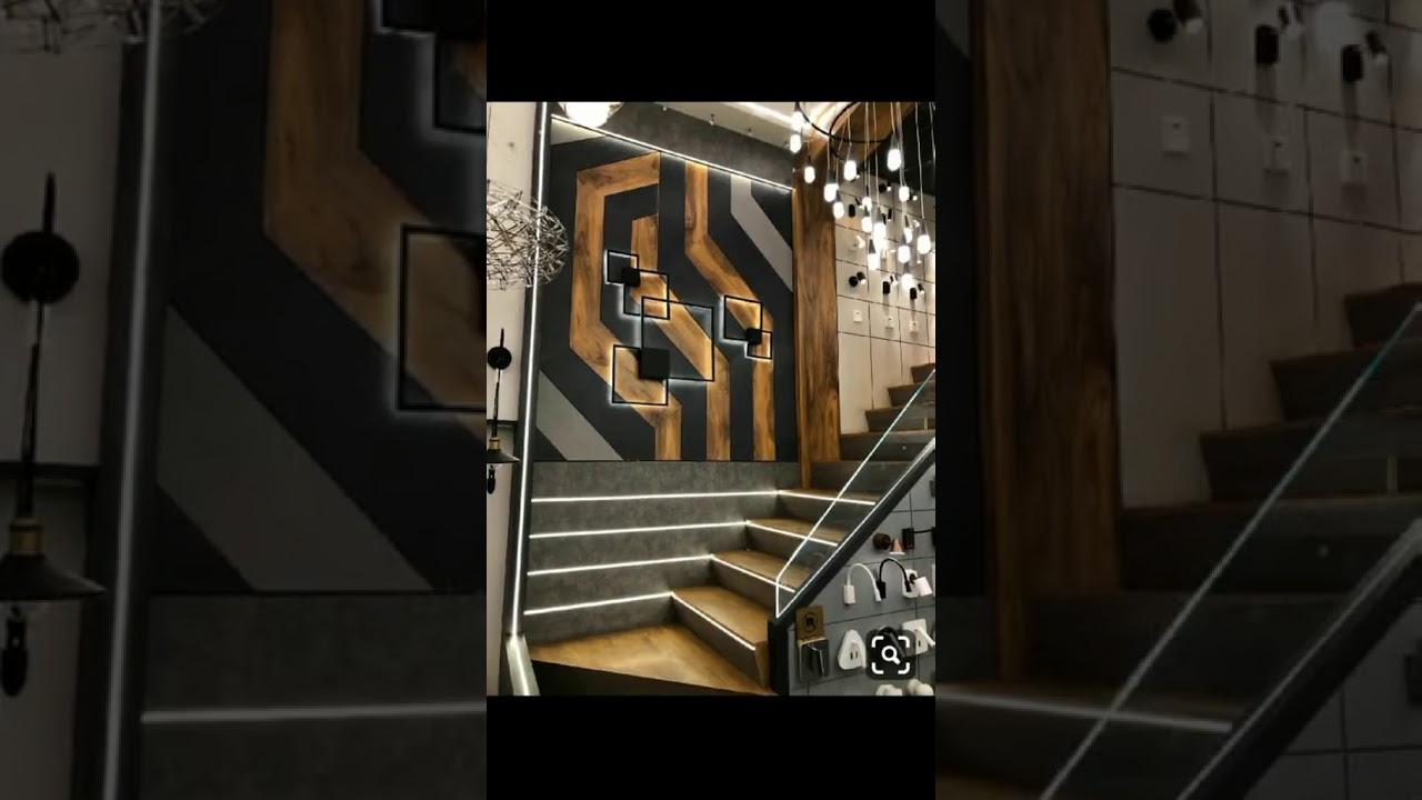 Staircase Side Wall Art Youtube | Staircase Side Wall Design | Farmhouse | Ladder | Bookshelf | Small Space | Beautiful