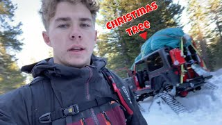 Christmas Tree Hunting with Tracked Vehicle | Christopher Polvoorde