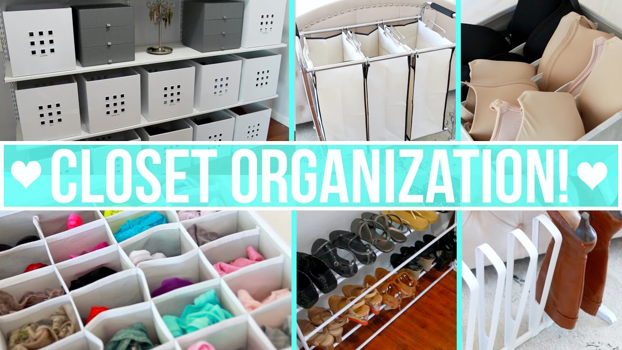Organization Closet Ideas closet organization ideas! - youtube