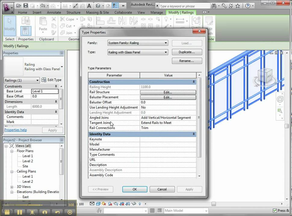 Creating Your Own Railing in Revit Architecture