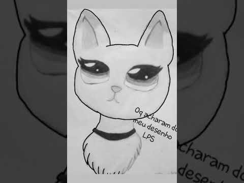 Desenhando Gatinha Lps Youtube
