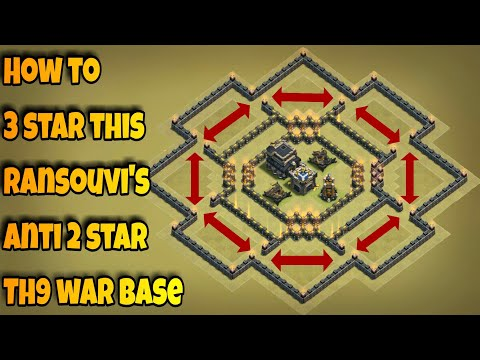 How to 3 star Ransouvi's popular anti 2 star Th9 war base | Part 2 | Clash of Clans