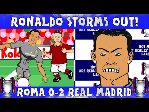 Ronaldo storms out of press conference! ROMA vs REAL MADRID 0-2 (UEFA Champions League Parody)