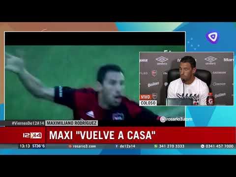 Maxi Rodríguez volvió a Newells y dijo que viene a sumar