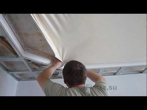 видео: Монтаж натяжных потолков