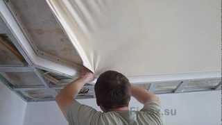 видео монтаж натяжных потолков