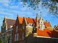 Marvelous  Veere . Holland .Fairy-tale houses of the 13th century .