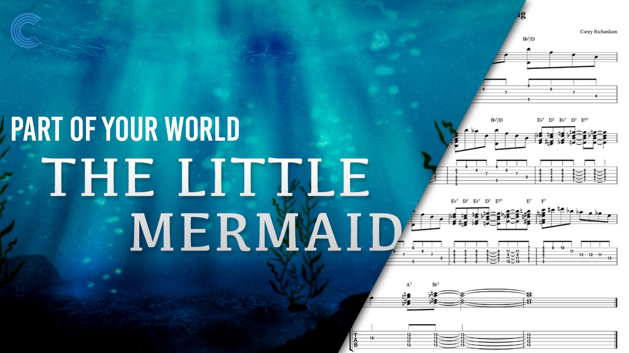 Piano Part Of Your World Disneys The Little Mermaid Sheet
