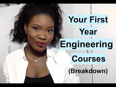 Breakdown of 1st Year Engineering courses