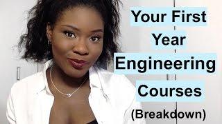 Breakdown of 1st Year Engineering courses