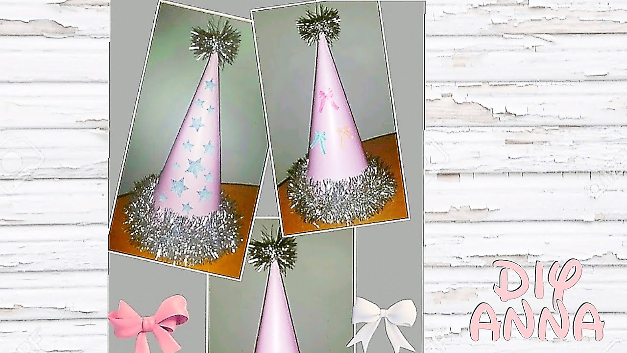new year party hat diy paper craft decorations ideas tutorial uradi sam youtube. Black Bedroom Furniture Sets. Home Design Ideas