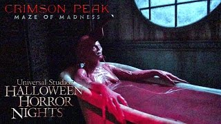 Crimson Peak Haunted House Maze Walk Through Halloween Horror Nights Universal Hollywood 2015