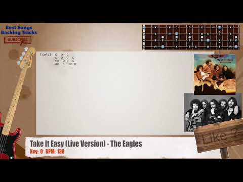 Take It Easy (Live Version) - The Eagles Bass Backing Track with ...