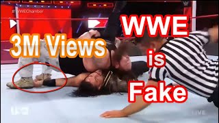 wwe is fake with 100% proof