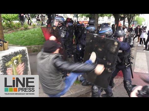 Loi Travail. Très violente manifestation / Paris - France 26 mai 2016