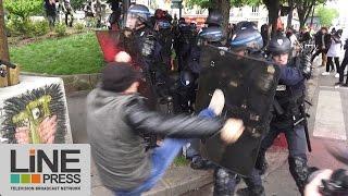 Loi Travail. Très violente manifestation / Paris - France 26 mai 2016(Entre 150 et 300000 personnes selon les sources ont défilé à Paris contre la Loi Travail. Très rapidement le défilé à dégénéré et de nombreux heurts violents ..., 2016-05-27T09:05:27.000Z)