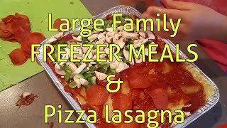 Large Family FREEZER meals & PIZZA LaSaGNa