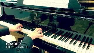 Grade 7 Gigue Handel ABRSM piano syllabus 2019-2020 5th mvt Suite no.8 F minor HWV 433 finale
