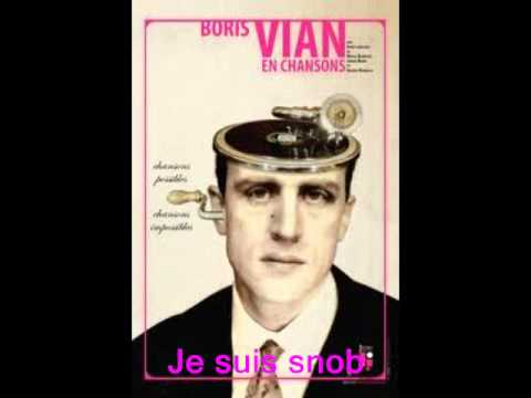 Je suis snob Boris Vian