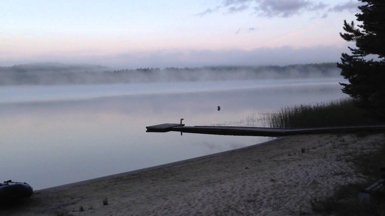 Озеро Янисъярви утром