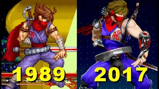 Evolution of Strider hiryu Character 1989-2017