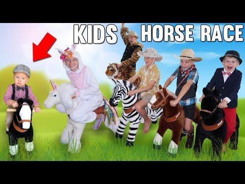 Insane Indoor Horse Racing Challenge With Unicorn!!