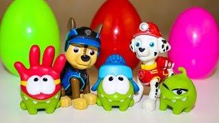 Сюрпризы Видео для детей Щенячий патруль и Ам Ням Киндер Сюрпризы Unboxing Surprise eggs toys