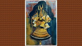 Temple Bells Painting | Acrylic Painting Art Lesson
