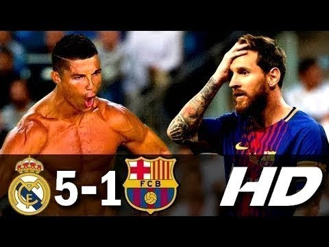 Download Real Madrid vs Barcelona 5-1 Spanish Super Cup  Goals HD Arabic Commentary