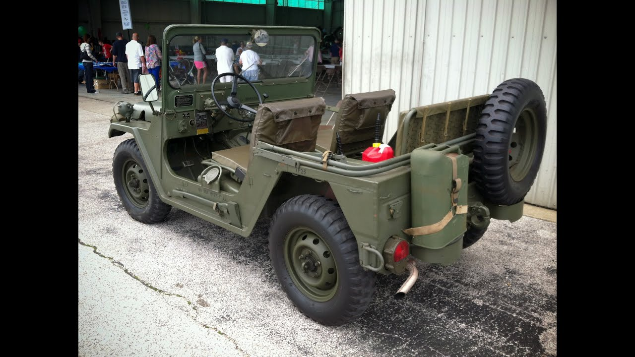 M151A2 MUTT Military Vehicle, Nicely Restored - YouTube
