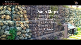 "Geosynthetic Application | How ""Gabion Facing Reinforced Soil Structure"" is done?"