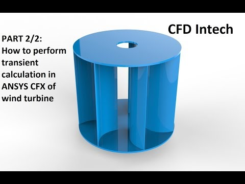 Tutorial ANSYS CFX Part - 2/2 | Transient analysis of vertical wind turbine, calculate power