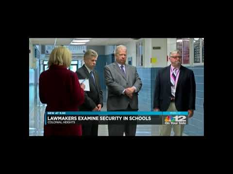 NBC-12 covers Speaker Cox's visit to Colonial Heights High School