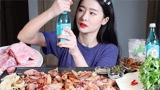 품절대란 뒷고기구이 리얼사운드먹방 / KOREAN PORK BBQ Mukbang Eating Show BBQ hàn quốc บาร์บีคิวเกาหลี 韓国のバーベキュー